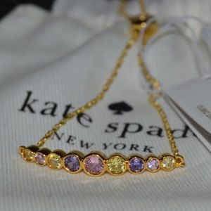 NEW Kate Spade Rainbow And Gold Slider Bracelet